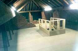 Strengthened and Raised Loft boarding for storage in older properties with weaker ceilings