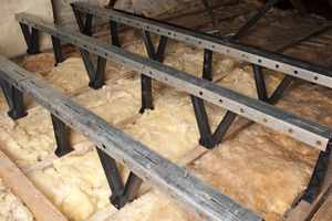 Avoid compressing or removing insulation